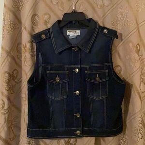 Indigo denim vest by NOFUZE Jeans. XL